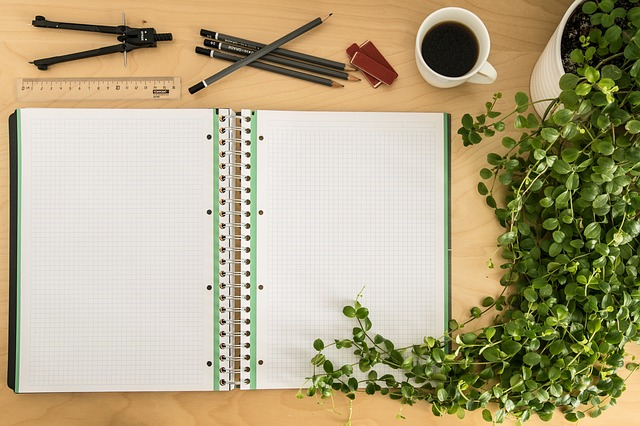 原稿とペン